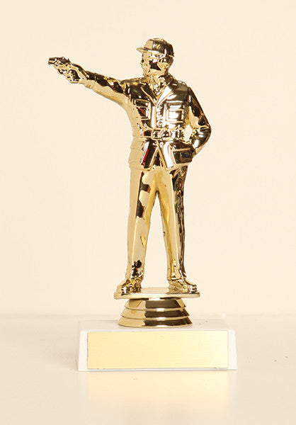 "Civilian Pistol Shooter Figure on Base 6"" Trophy"