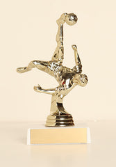 "Male Soccer Bicycle Kick Figure on Base 6"" Trophy"