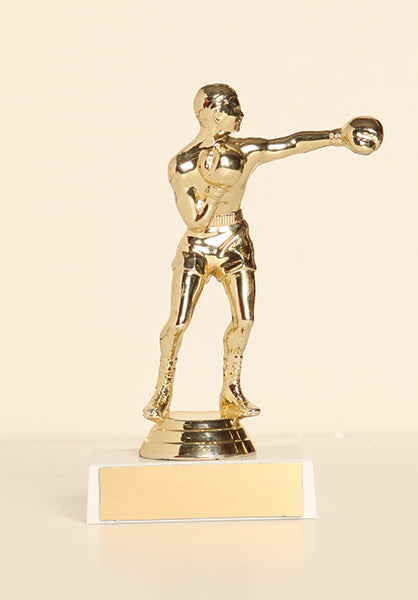 "Male Boxer Figure on Base 6"" Trophy"