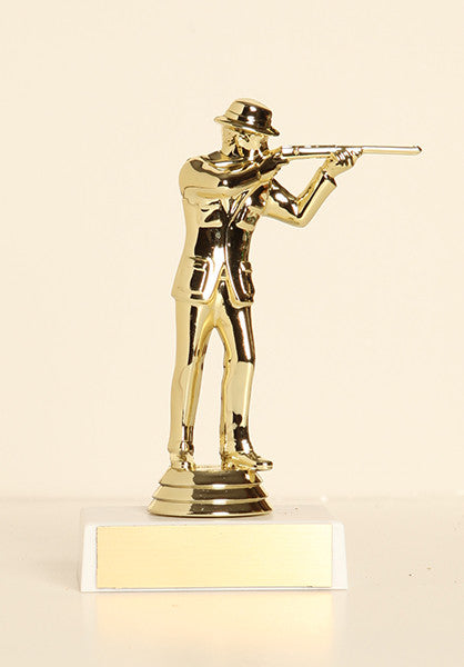 "Civilian Rifleman Figure on Base 6"" Trophy"