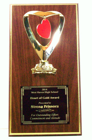 Heart of Gold Plaque
