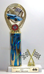 Pinewood Derby 10 1/2 inches High Trophy
