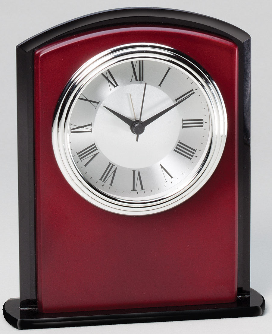 Desk Clock Rosewood Finsh