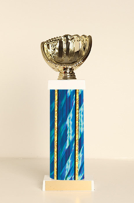 Softball Glove Square Column Trophy