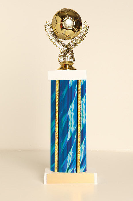 Soccer Ball Square Column Trophy