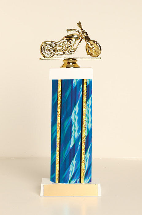 Chopper Motorcycle Square Column Trophy