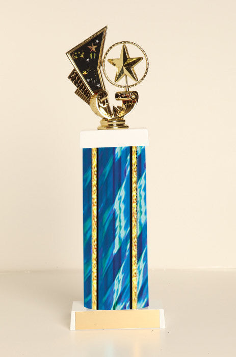 Spinning Star Square Column Trophy