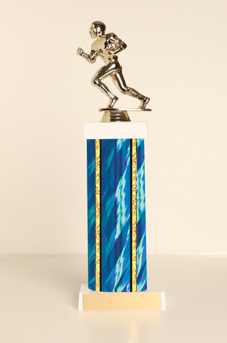 Male Football Runner Square Column Trophy