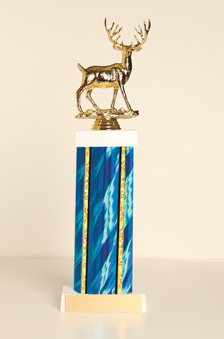 Buck Deer Square Column Trophy