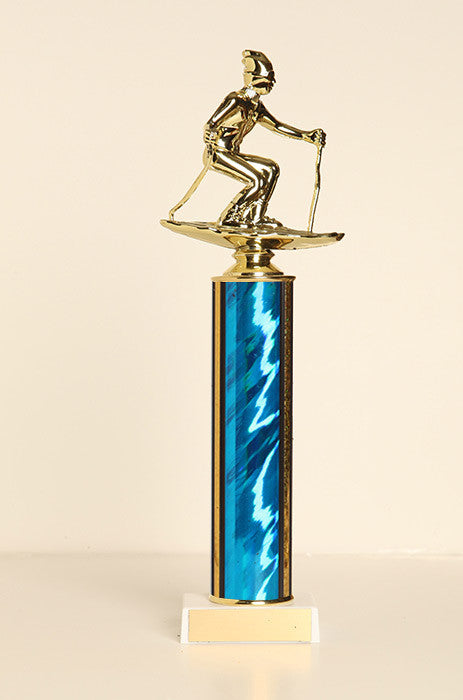 Male Snow Skier Tube Trophy