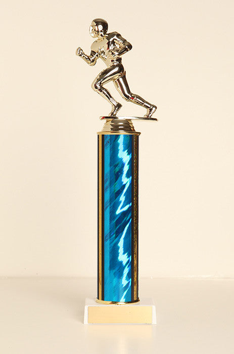Male Football Runner Tube Trophy