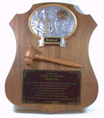 American Genuine Walnut Shield Plaque