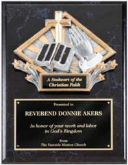 Black Marble Finish Plaque with Diamond Resin 9 inch x 12 inch