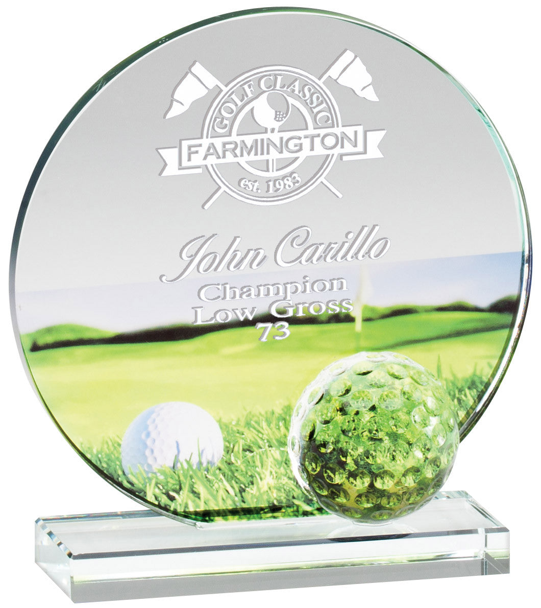 Promo Class Glass Golf Awards
