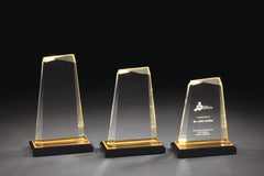 ACRYLIC AWARDS - Impress Reflection Series -  Available 3 Sizes & 3 Colors