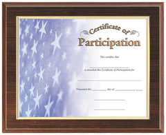 Cherry Finish Plaque with Award Frame 10-1/2 inch x 13 inch