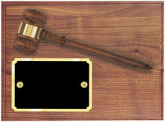 Genuine Walnut Gavel Plaque 9 x 12