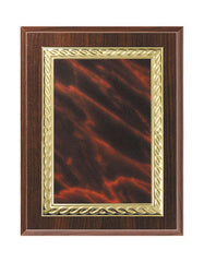 Cherry Finish Plaque with Marble Plate 7x9, 8x10, 9x12 inch Red, Black or Blue