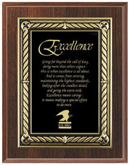 Cherry Finish Plaque with Black with Gold Border Plate 7x9, 8x10, 9x12 inch Red, Black or Blue