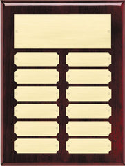 Perpetual 12 Plate High Gloss Rosewood Plaque 9 inch x 12 inch - Black or gold