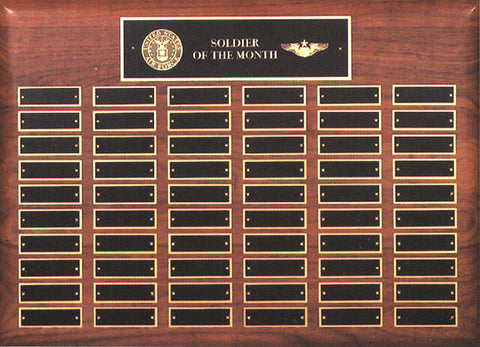 Perpetual 60 Plate Walnut Plaque 15 inch x 21 inch
