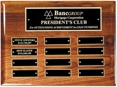 Perpetual 12 Plate High Gloss Walnut Plaque 9 inch x 12 inch Horizontal