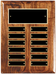 Perpetual 12 Plate High Gloss Walnut Plaque 9 inch x 12 inch