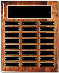 Perpetual 24 Plate High Gloss Walnut Plaque 10-1/2 inch x 13 inch