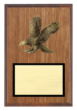 Walnut Veneer Plaque with Eagle  7x 9, 8x 10, 9x12 inch