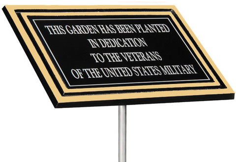 Cast Aluminum Outdoor Plaque - Silver or Bronze Border With Stake or Without Stake