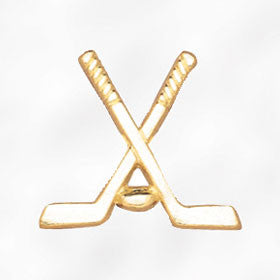 Sports and Chenille Pins - Crossed Hockey Sticks