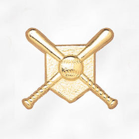Sports and Chenille Pins - Crossed Bats & Ball