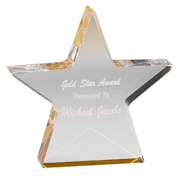 Gold Reflections Star Acrylic