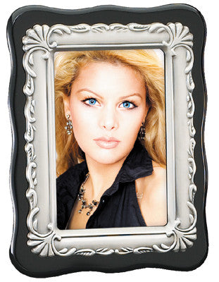 Ebony and Silver Frame for 4 inch x 6 inch picture