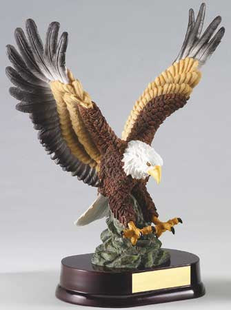 Eagle in Flight, Painted 12 inch