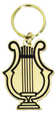 Music Lyre Key Chain