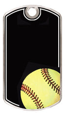 Black Beauty Dogtags - 1-1/8 inches x 2 inches - Softball