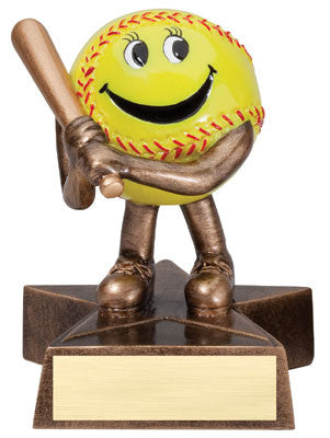 Little Buddy Softball Resin 4-1/2  - Economical Participant Award!