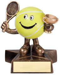 Little Buddy Tennis Resin 4-1/2  - Economical Participant Award!
