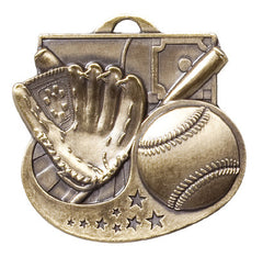 Victory Trophy Medals - Baseball - 2 inch Star Blast sport medals series II