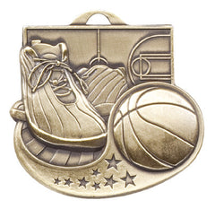 Victory Trophy Medals - Basketball - 2 inch Star Blast sport medals series II