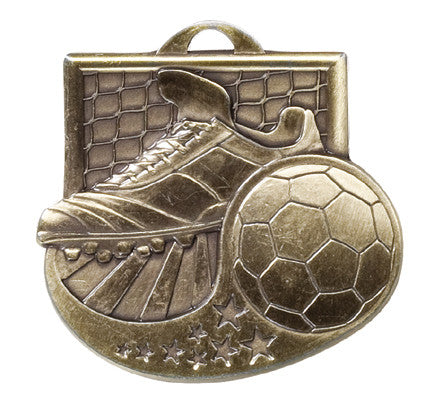 Victory Trophy Medals - Soccer - 2 inch Star Blast sport medals series II