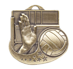 Victory Trophy Medals - Volleyball - 2 inch Star Blast sport medals series II