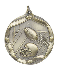 Ribbon Series Sport Medals - 2 1/4 inch  Medal with ribbon  - Football