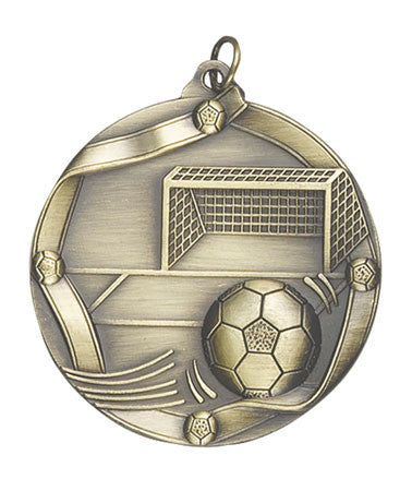 Ribbon Series Sport Medals - 2 1/4 inch  Medal with ribbon  - Soccer