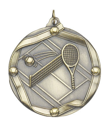 Ribbon Series Sport Medals - 2 1/4 inch  Medal with ribbon  - Tennis