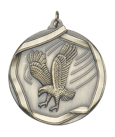 Ribbon Series Sport Medals - 2 1/4 inch  Medal with ribbon  - Eagle
