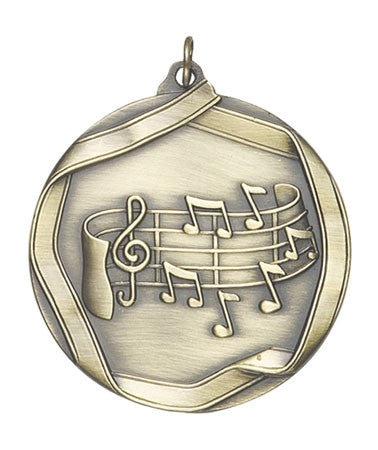 Ribbon Series Sport Medals - 2 1/4 inch  Medal with ribbon  - Music Note