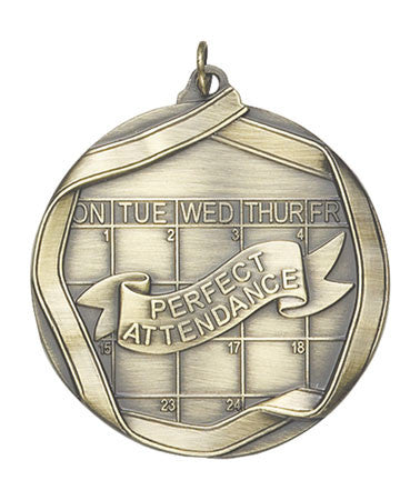 Ribbon Series Sport Medals - 2 1/4 inch  Medal with ribbon  - Perfect Attendance