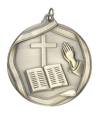 Ribbon Series Sport Medals - 2 1/4 inch  Medal with ribbon  - Church